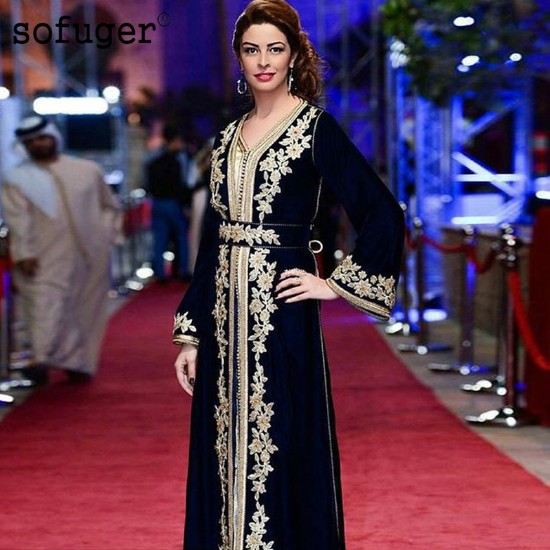 Black Moroccan Kaftan Mother Of The Bride Dresses Appliques Evening Dress Vestido De Renda Groom Mother Formal Party Dress