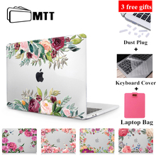цена на MTT Flowers Crystal Case For Macbook Air 13 inch A1932 Cover for apple macbook air pro retina 11 12 13 15'' With Touch Bar A1989