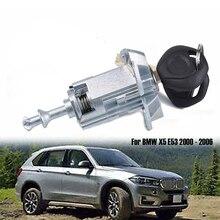 רכב שמאל נהג דלת מנעול צילינדר חבית הרכבה עם 2 מפתחות 51217035421 Fit עבור BMW X5 E53 2000   2006