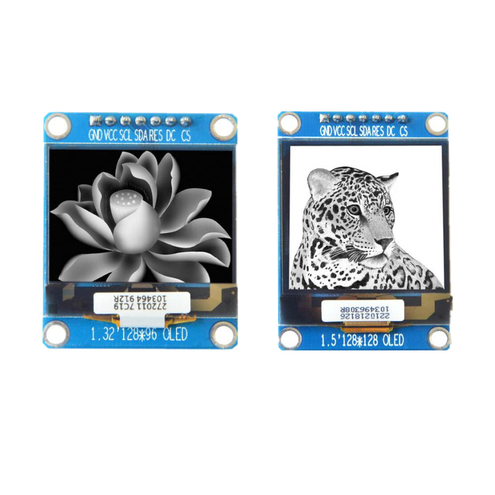 7Pin 1.5 inch <font><b>OLED</b></font> display module 128*96 128*128 1.32 inch <font><b>OLED</b></font> LCD screen <font><b>SSD1327</b></font> with grayscale image