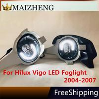 12V LED daylight Fog Light For Toyota Hilux Vigo 2004 2011 Replacement Car Front Bumper lamp Accessories