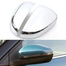 Copertura decorativa per specchietto retrovisore in ABS cromato per CITROEN C5 Aircross 2017 2018 Carbon Look Car Detector Stick Styling