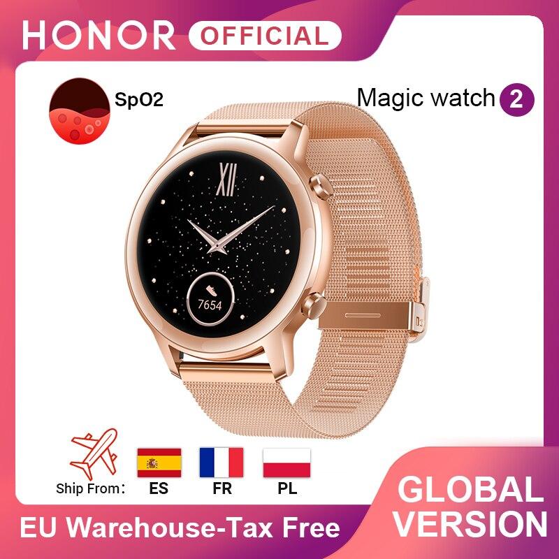 Глобальная версия, часы Honor Magic, 2, часы Magic 2, Смарт часы для женщин, 42 мм, кислородные часы для телефонных звонков, пульсометр для Android ios|Смарт-часы|   | АлиЭкспресс