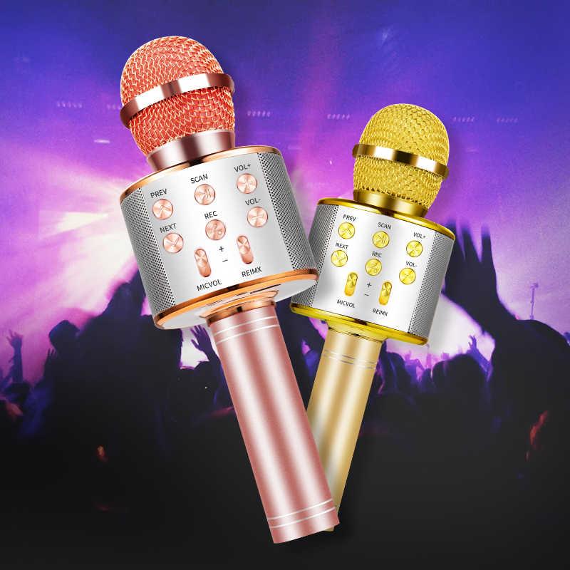 Bluetoothカラオケマイクワイヤレスマイクプロキッチンスピーカーハンドヘルドmicrofoneプレーヤー歌レコーダーマイク
