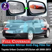 Полное покрытие Защитная противотуманная пленка для Toyota Urban Cruiser ist Scion xD E150 2008~ зеркало заднего вида непромокаемая пленка 2010