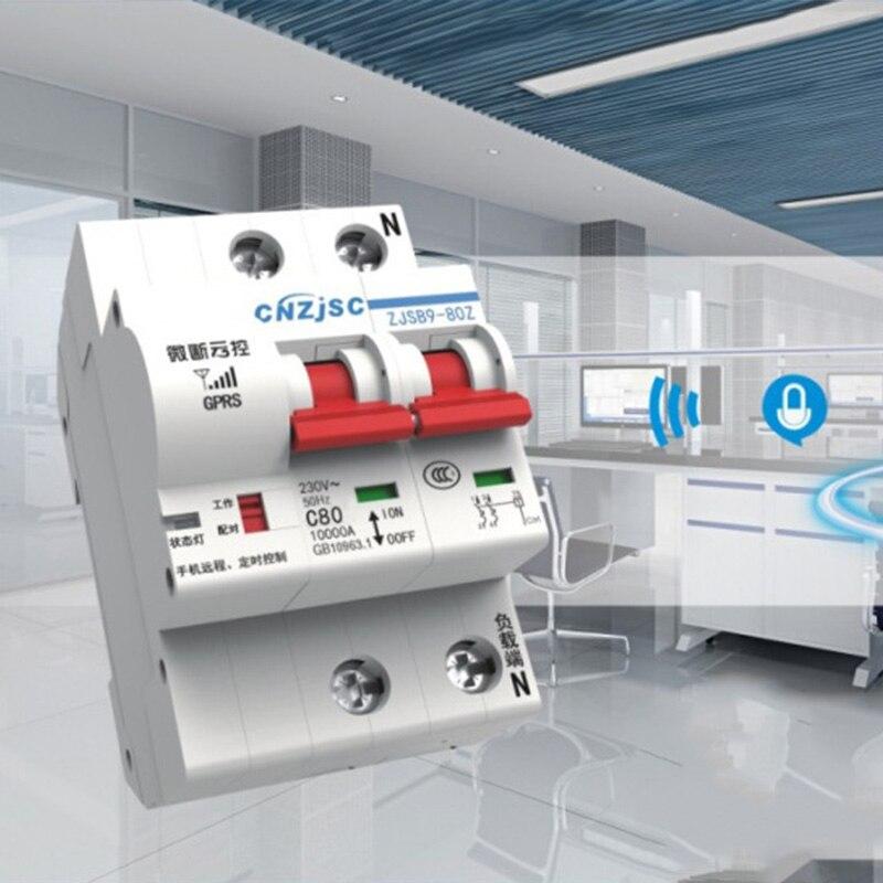 Protection de Circuit de surcharge de commutateur automatique à télécommande d'app de disjoncteur intelligent de WiFi DTT88