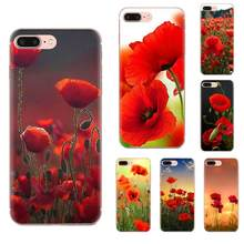 Rouge Fleur De Pavot Pour Galaxy J1 J2 J3 J330 J4 J5 J6 J7 J730 J8 2015 2016 2017 2018 mini Pro Soft Coque Mobile(China)