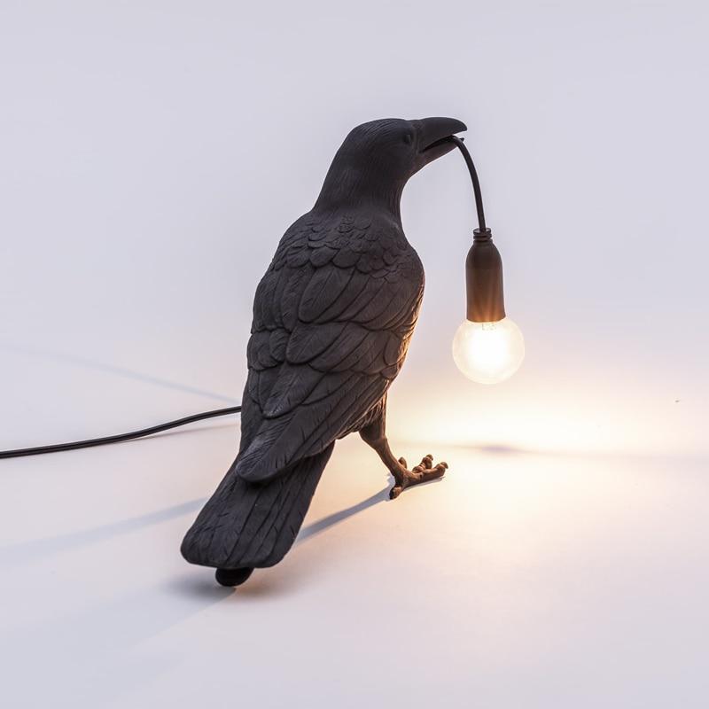 Italian Seletti Bird Lamp LED Light Table Home Decor Bird Desk Lamp Seletti Bird Animal Furniture Living Room Bedroom Bedside