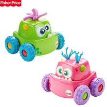 Fisher Price Press'n Go Monster Truck Pink green child Learn to climb a car Toddler toys educational baby toys