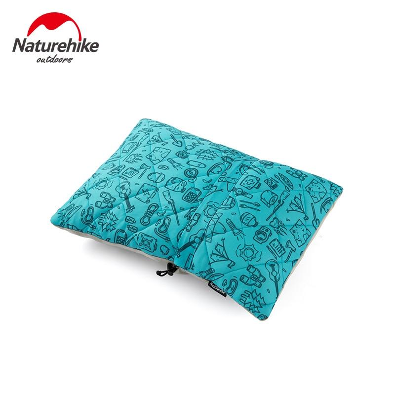 Naturehike Ultralight Sponge Pillow Outdoor Portable Pillow Back Cushion Soft Lightweight Travel Lunch Break Office Piilows