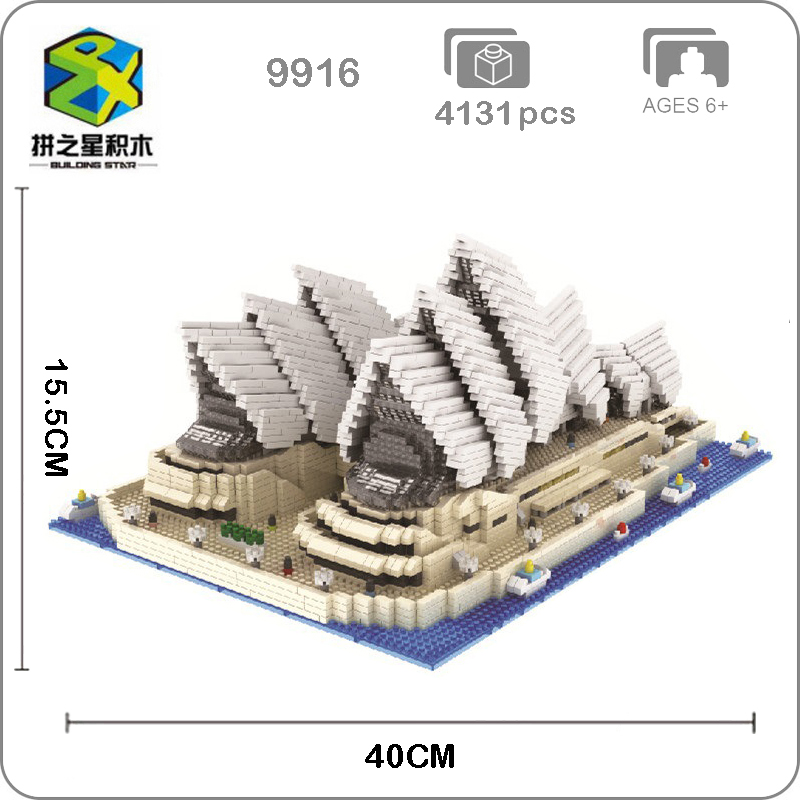 Building Star World Architecture Sydney Opera House 3D Modle Mini Small Blocks Bricks Diamond Toy for Children no Box