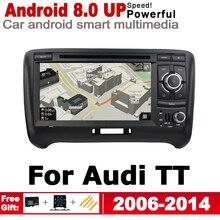 цена на Android Car DVD Radio Player For Audi TT 8J 2006 2007 2008 2009 2010 2011 2012 2013 2014 MMI GPS Navigation Multimedia System