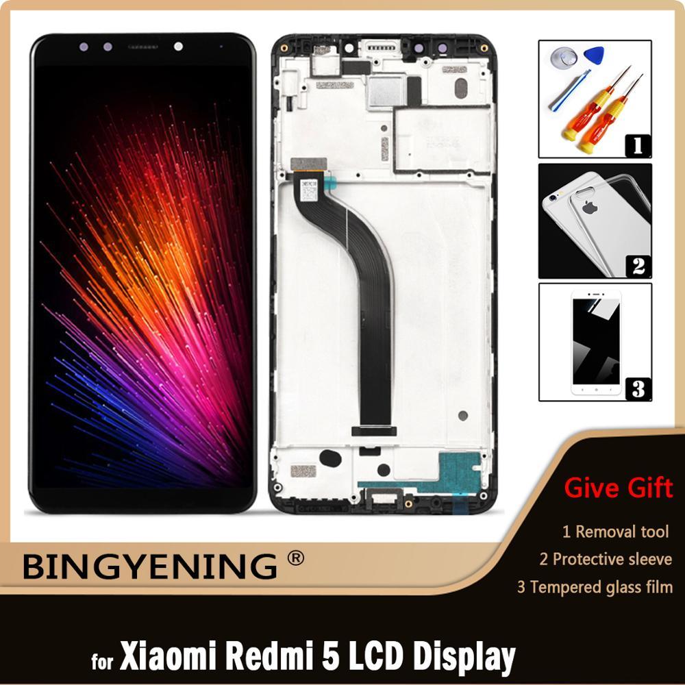 Оригинальный ЖК-дисплей для Xiaomi Redmi 5, сенсорный экран с дигитайзером в сборе для 5,7 дюймового телефона Xiaomi Redmi 5 с рамкой