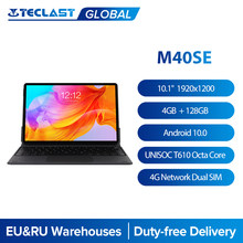 Teclast M40SE 10.1'' Tablet 1920x1200 UNISOC T610 Octa Core 4GB RAM 128GB ROM 4G Network Dual SIM Android 10.0 Type-C Docking