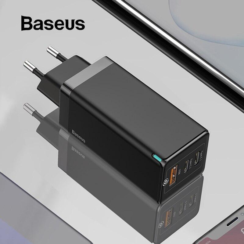빠른 충전과 Baseus GaN 65W 빠른 충전기 4.0 3.0 AFC SCP USB PD 충전기 아이폰 11 프로 맥북 프로 샤오미 삼성 화웨이