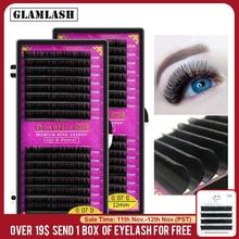 Glamlash 16 Rijen Premium Sable Valse Natuurlijke Matte Black Wimper Extension Groothandel Wimpers Extension Cilia Make Wimpers