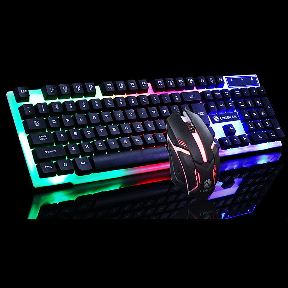 Keyboard Mouse Set Wired Mechanical Feel Gaming Keyboard With LED USB Gaming Mouse Backlight Gamer Keyboard For PC Gamer Laptop