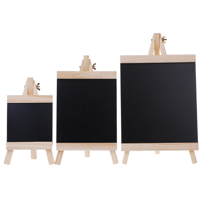 Desktop Message Blackboard Easel Chalkboard Kids Wood Writing Boards Collapsible LX9A