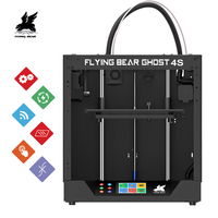 2019 Newest Design Flyingbear Ghost4S 3D Printer full metal frame High Precision 3d printer Diy kit glass platform Wifi