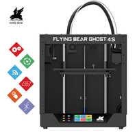2019 Più Nuovo Disegno Flyingbear-Ghost4S full frame in metallo di Alta Precisione FAI DA TE 3d stampante kit Fai Da Te di vetro piattaforma Wifi