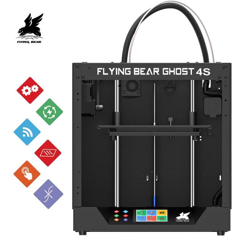2019 nouvelle conception Flyingbear-Ghost4S 3D imprimante plein cadre en métal haute précision 3d imprimante kit de bricolage verre plate-forme Wifi