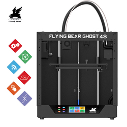 2019 nuevo diseño Flyingbear-Ghost4S marco de metal completo de alta precisión DIY impresora 3d Diy kit de plataforma de vidrio Wifi