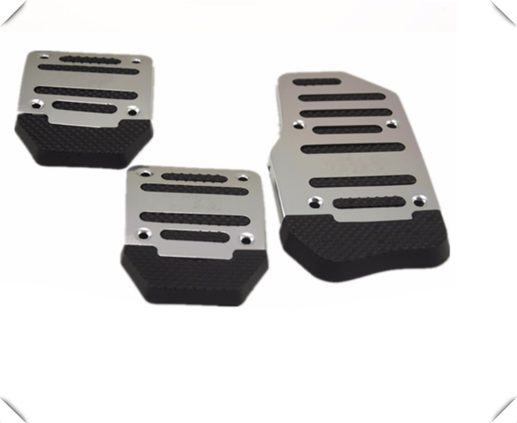 Universal aluminum alloy manual transmission anti-skid car pedal set for <font><b>Ford</b></font> SVT Reflex Freestar <font><b>F150</b></font> Crown BF 4-Trac image