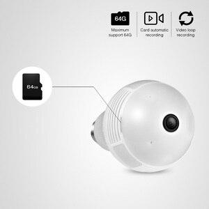 Image 5 - KERUI LED 960P Không Dây Toàn Cảnh Nhà An Ninh WiFi Camera Quan Sát Mắt Cá Bóng Đèn Đèn Camera IP 360 Độ An Ninh Tại Nhà chống Trộm