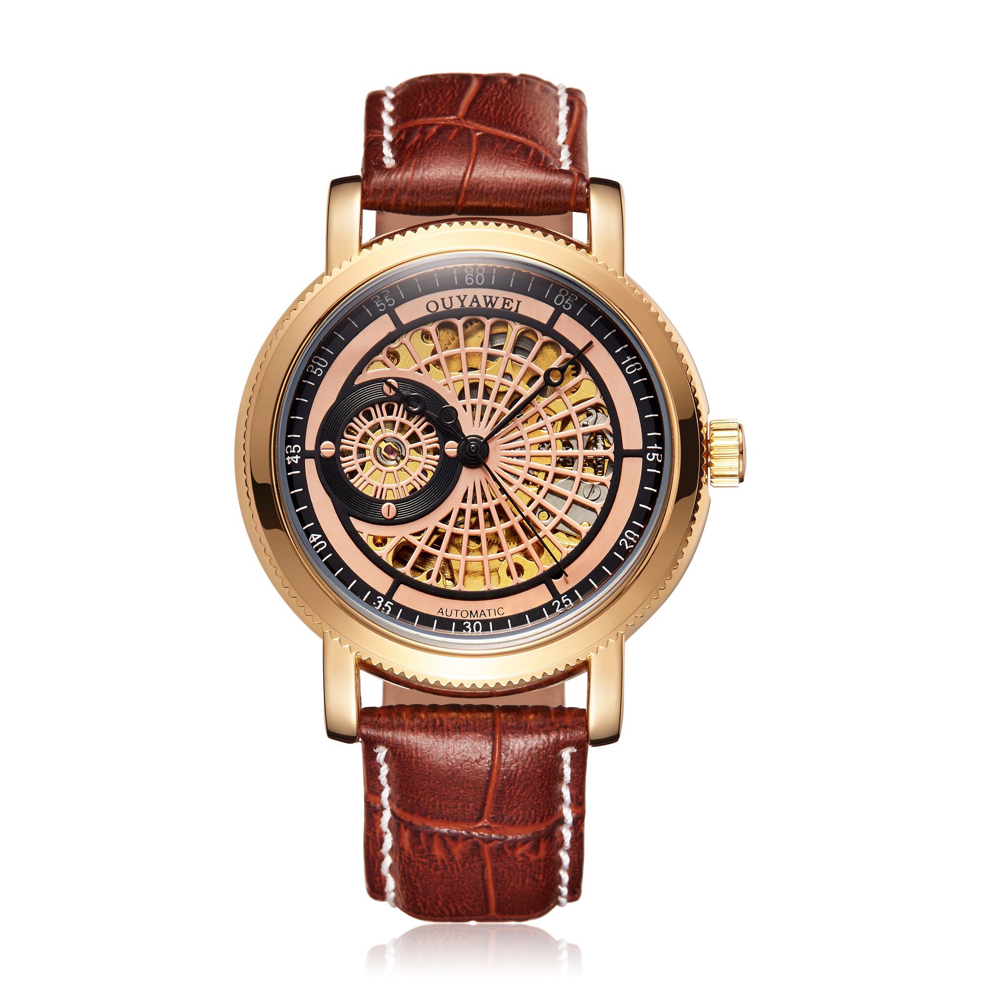 H0fd182b2a3914a4288e44cf4af9a9427v Mechanical Gold Watch Luxury Brand Self-winding