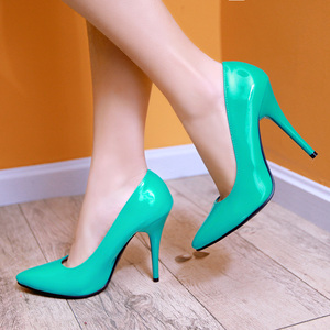 Image 4 - Zapatos de plataforma de mujer de tacón alto a la moda, zapatos de mujer verdes, Nude, rojos y azules, zapatos de fiesta, zapatos de oficina boda, mujer, talla grande 44 47