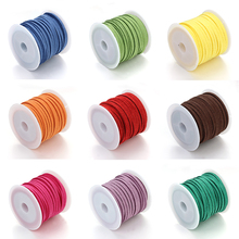 5yards/roll 2.7x1.5mm 19 Colors Flat Faux Suede Korean Leather Cords Thread For Jewelry Making Findings Accessories Wholesale