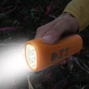 Image 3 - Youpin multi fonction main alarme lampe de poche automatique Radio lampe de poche Led type c Rechargeable en plein air outil de secours