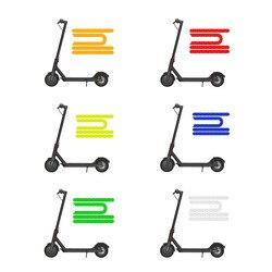 4 предмета в комплекте, для Mijia M365 Pro Электрический скутер Светоотражающие Стикеры отражатель для M365 Безопасность ночного езда на велосипеде...