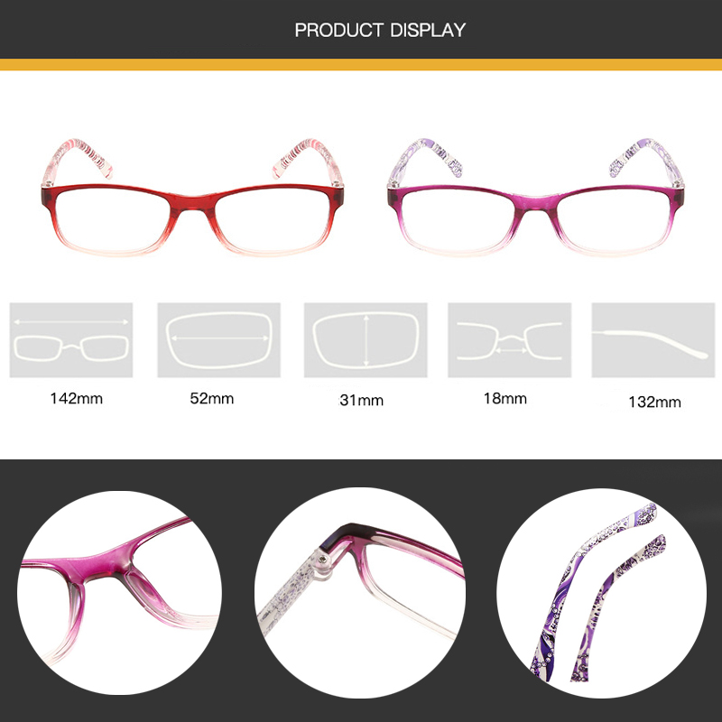 Zilead Reading Glasses Comfortable Bazoo Holds Retro High Quality Fashion Light  Farsightedness For The Elderly +1.0 To+4.0