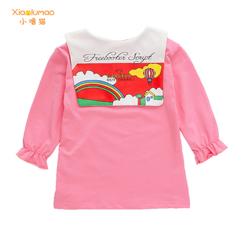chinese style winter girls dress long sleeve embroidered cheongsam princess dresses for girls birthday party dress kids clothing Girls Dress Autumn Kids Dresses Long Sleeve Princess Dress for Girl Kids Party Dress Spring Navy Preppy Style Dress