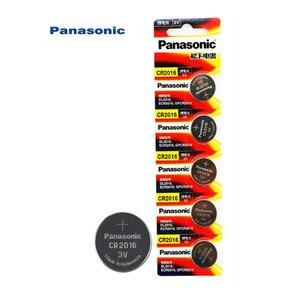 5PCS Original Panasonic Top Quality Lithium Battery 3V cr2016 Button Battery Watch Coin Batteries cr 2016 DL2016 ECR2016(China)