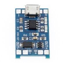 50 pces micro usb 5v 1a 18650 tp4056 módulo carregador de bateria de lítio placa de carregamento com proteção funções duplas 1a li ion