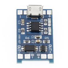 Módulo de cargador de batería de litio con protección, 50 Uds., Micro USB 5V 1A 18650 TP4056, tarjeta de carga con funciones duales, Li ion 1A
