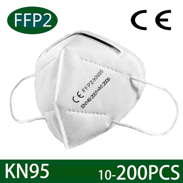 10-200 PCS face mask ffp2 facial masks filter masks KN95 maske Mouth mask anti PM2.5 dust mask protect mascarilla ventilation