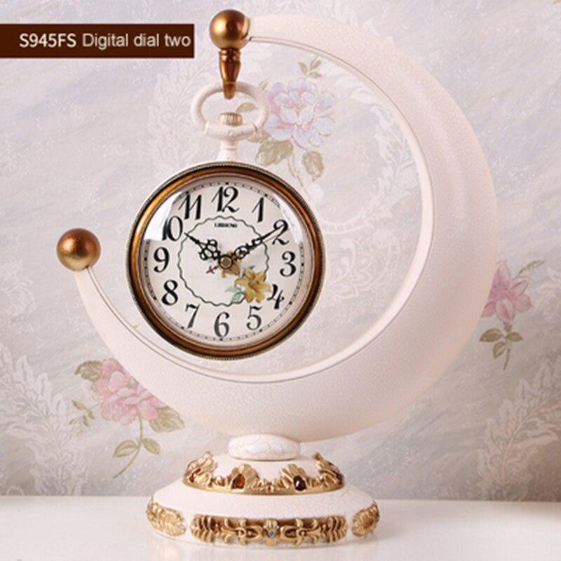 1 pièces horloge créative européenne salon hôtel bureau bureau horloge décorations pour la maison horloge Quartz silencieuse cadran numérique romain - 4