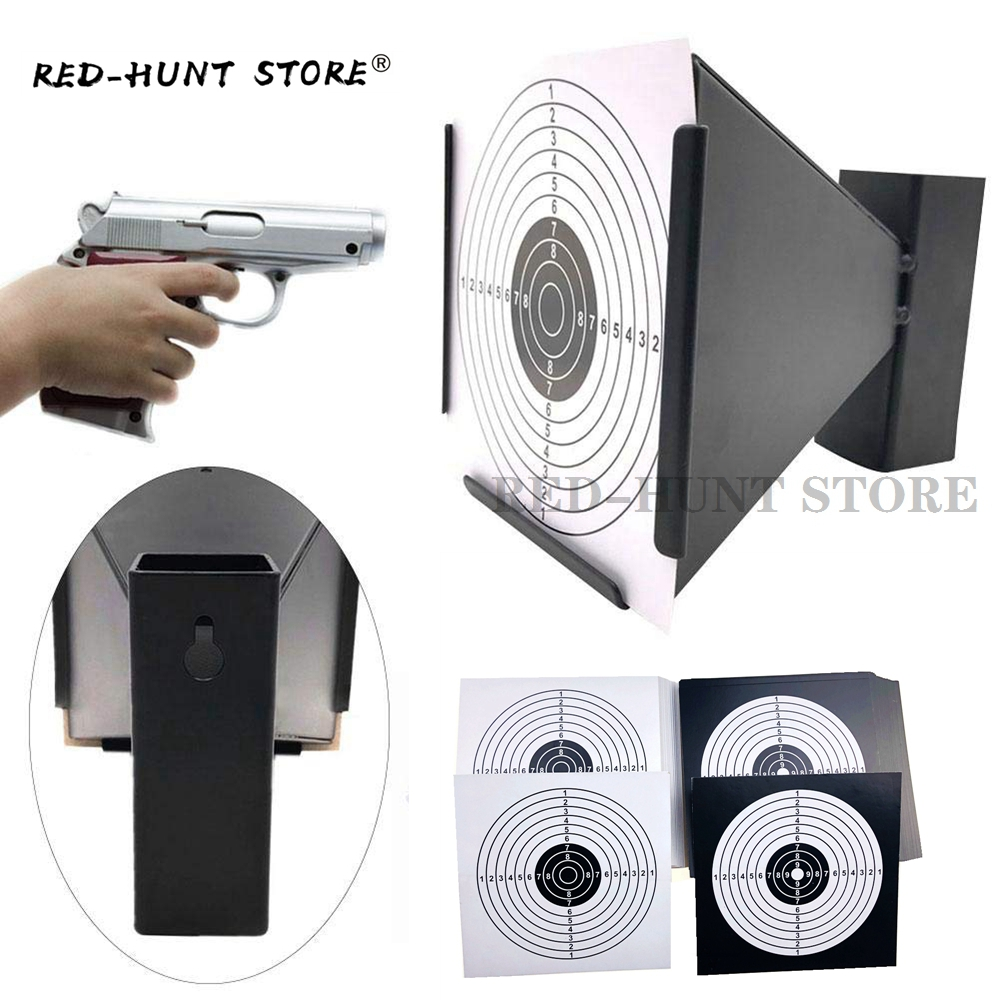 14x14cm Funnel Air Rifle/Airsoft Shooting Target Holder Pellet Trap Paintball Accessories