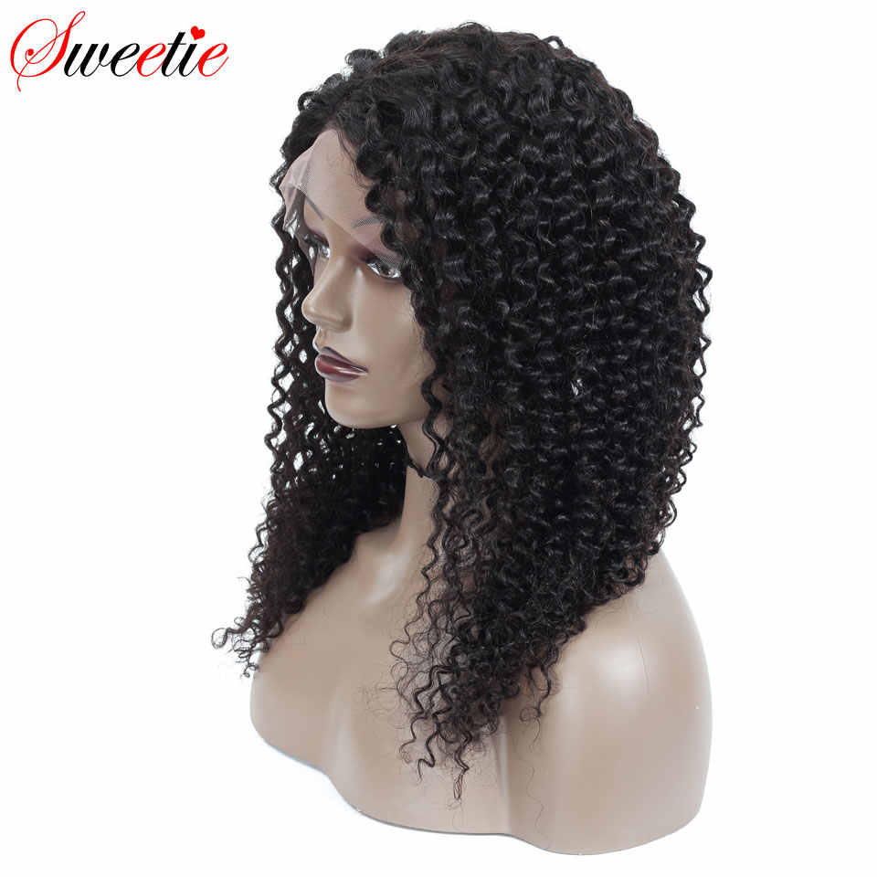 Sweetie 13x4 Lace front Human Hair Wigs For Women Natural Black Indian Curly Remy Human Hair 13*4 Lace Wigs With Baby Hair