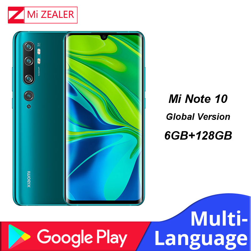 Global Version Xiaomi Mi Note 10 Smartphone 6GB RAM+128GB ROM 108MP Penta Camera 5260 MAh Battery Snapdragon730G Cellphone