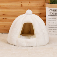 Plush Cat Cave Bed For Small Dog Cats Mat Warm Pet House Warm Hamster Kitten Kennel Puppy Foldable Nest Cat Supplies