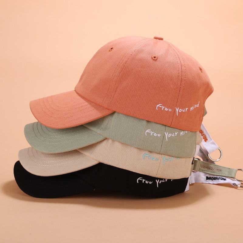 Fashion Letter Embroidery Iron Ring Baseball Caps Men Women Snapback Hip Hop Hat Summer Sun Gorras Unisex Streetwear Bone A40