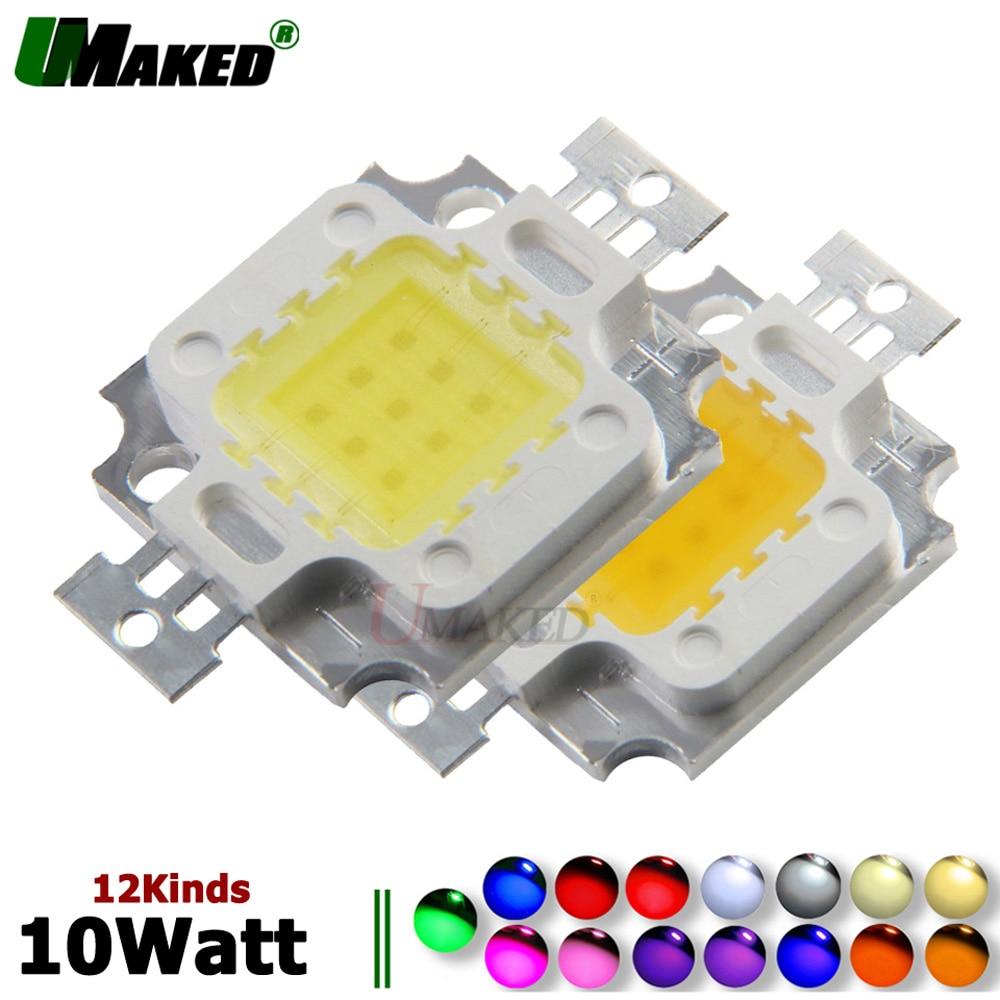 UMAKED High Power LED Chips 10W SMD COB Diode 33Mil Epistar Light Chips Warm/Natrual/White/Cool For Led Floodlight Spotlights