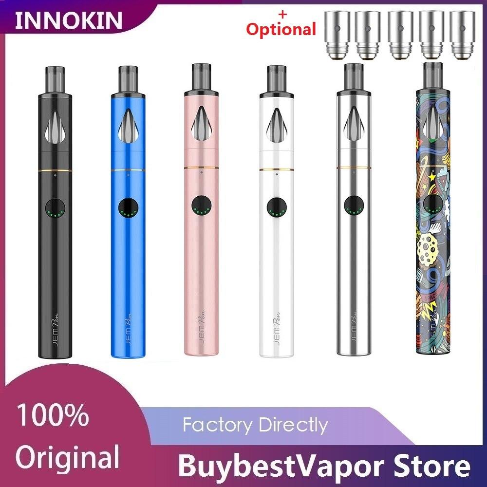 Original Innokin JEM Vape Kit With 1000mAh Battery & 2ml Tank & 1.6ohm&2.0ohm Coils Head  Innokin JEM Pen Kit VS Endura T22