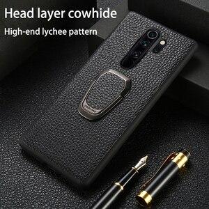 Image 1 - Leather Phone Case For Xiaomi Mi 10 9 se 9T A3 Lite POCO X2 F1 F2 Mix 2s Max 3 Litchi For Redmi Note 9 9S 8 7 7A 6 K30 Pro Cover