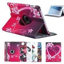 Милый чехол для планшета с поворотом на 360 градусов для Ipad Air 1 air 2 9,7 чехол с подставкой из искусственной кожи чехол с цветочным узором для девочек