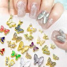 10 шт 3d украшение для ногтей японсветильник Роскошная бабочка